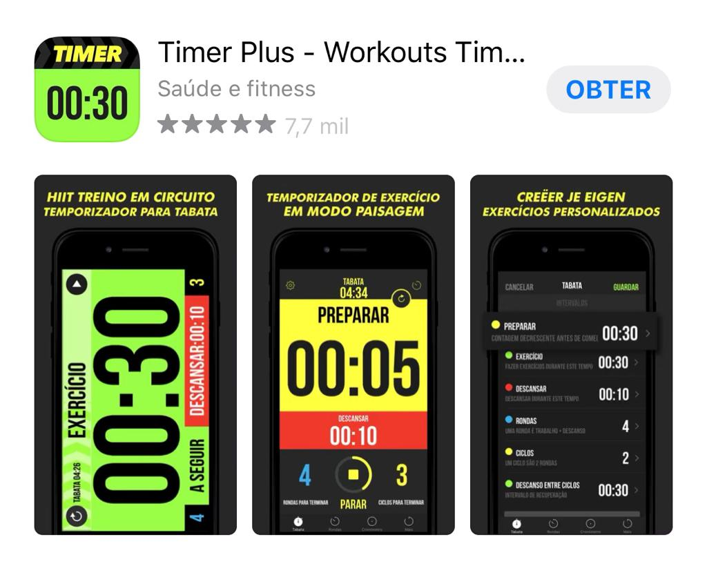 timer plus método TABATA