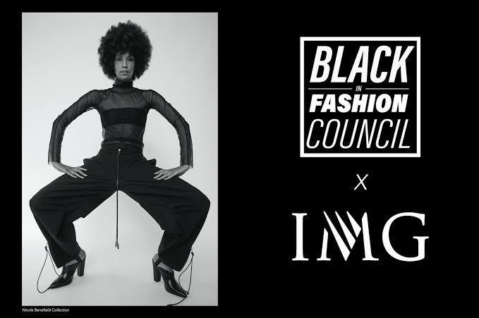 Conselho Black in Fashion em parceria com a IMG models para o NYFW