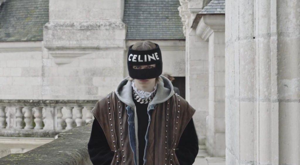 coleção masculina celine, filme gravado na França