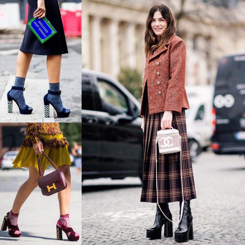 calçados plataforma voltam como tendência nas passarelas