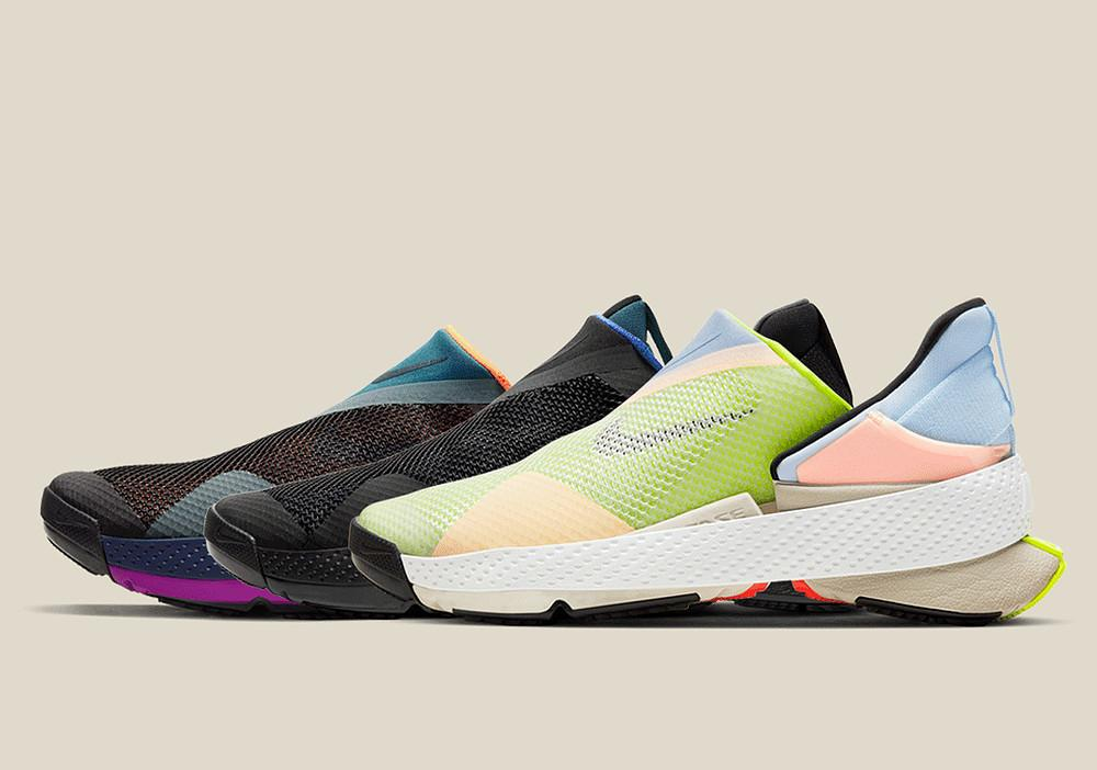 opções de cores do novo modelo Nike GO Flyease
