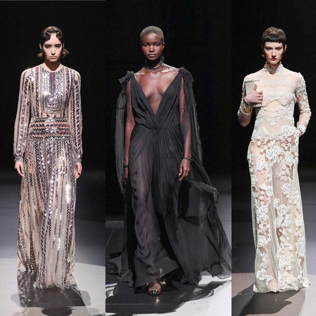 valentino apresenta coleçãp na semana de moda de milão