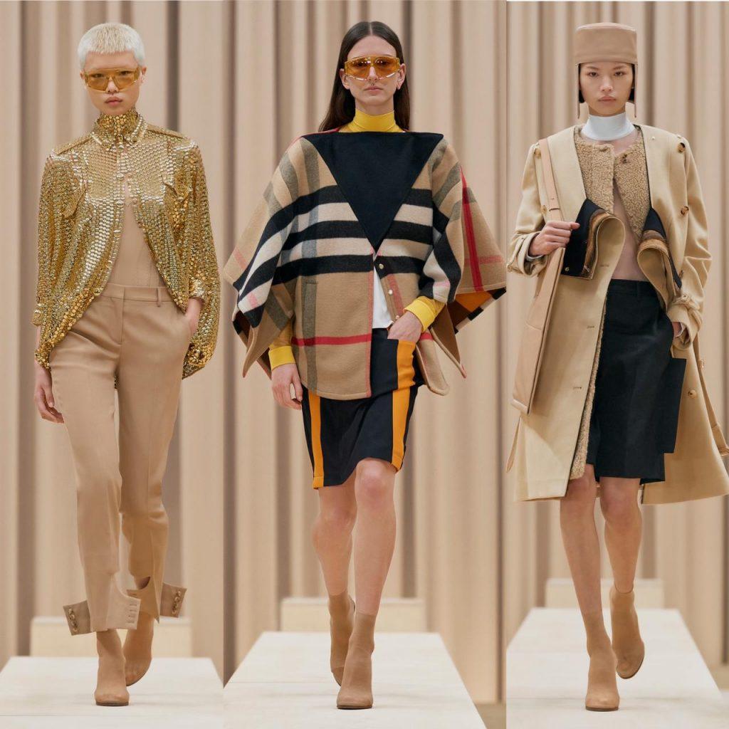 burberry apresenta nova coleção feminina para coleção outono/inverno 2021