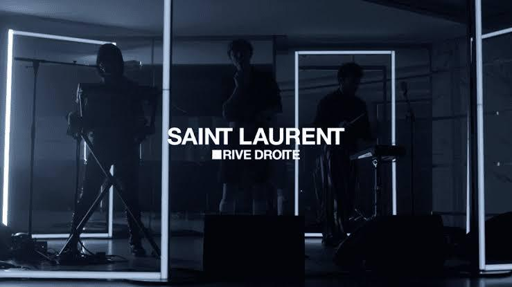 saint laurent rive droit traz live sessions no instagram da marca