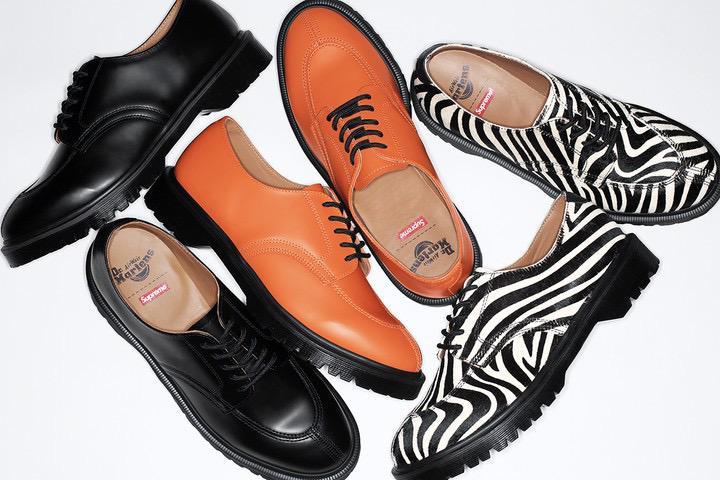 Dr. Martens e Supreme lançam nova parceria com 3 novas colorways de sapatos