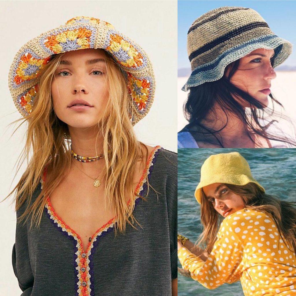 tendência 2021 bucket hat em crochê