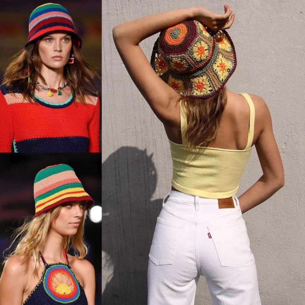 tendência de moda bucket hat